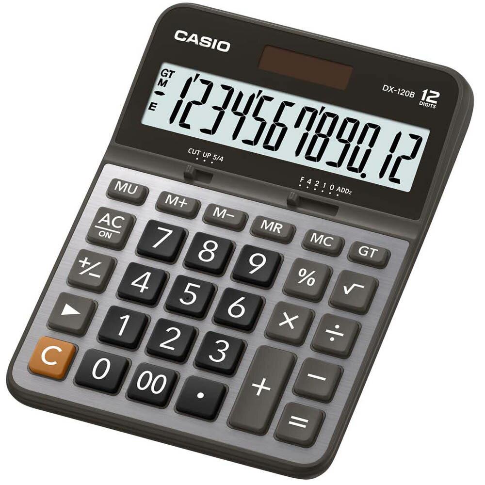 【CASIO 】 DX-120B 商務桌上中型12位數計算機 開根號 卡西歐公司貨全國保固 附保固卡