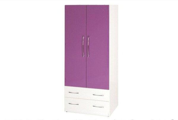 【石川家居】822-06(紫白色)衣櫥(CT-110)#訂製預購款式#環保塑鋼P無毒防霉易清潔