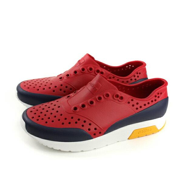 nativeLENNOXBLOCK懶人鞋洞洞鞋男鞋紅色11105002-8612no831