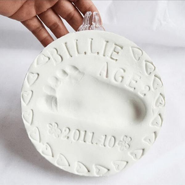 Super Soft Clay Baby Handprint Footprint Imprint Casting Hand Inkpad Fingerprints 0