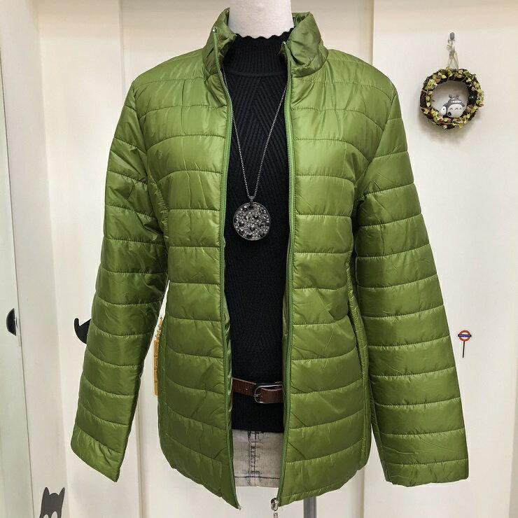 超取免運 綠 防潑水 防水 防風 鋪棉 保暖 外套 夾克 大衣 女裝 女 女生