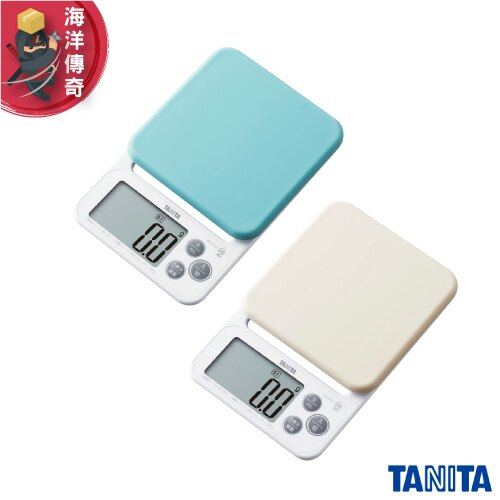 【日本出貨】TANITA 超薄輕巧料理秤 2kg/0.1g 電子秤 廚房秤 烘培秤 KJ-212 (藍/白)【海洋傳奇】